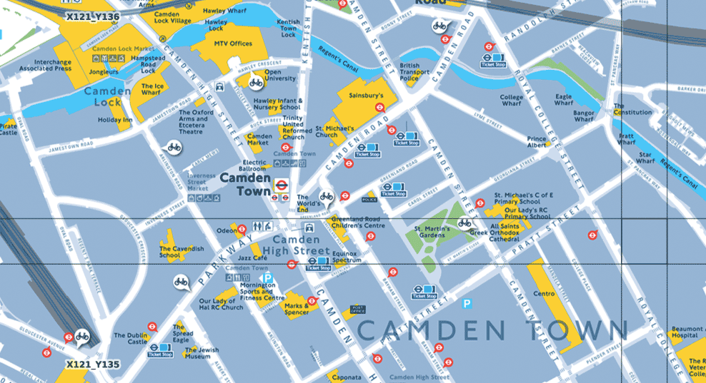 Legible London map tiles