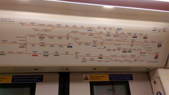 Crossrail network map