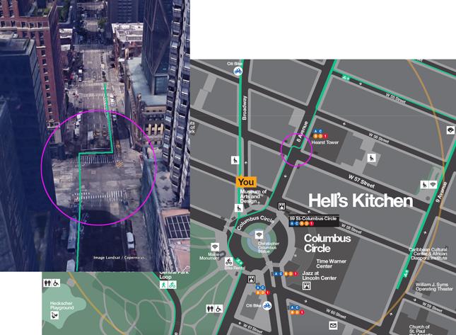 Walk NYC bike map