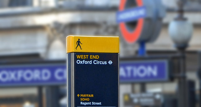 The Legible London Wayfinding system, 2009