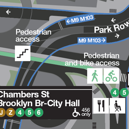 WalkNYC New York map icons