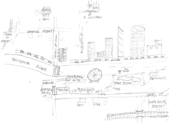Sketchmap from paper map group