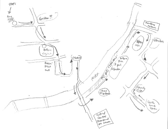 Sketchmap from signage only group