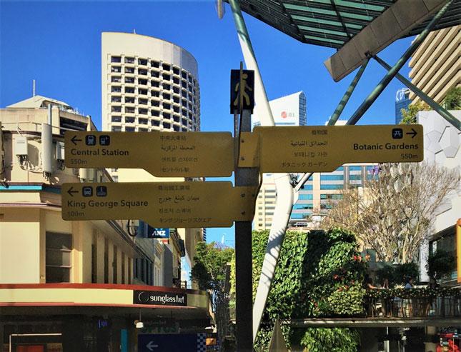 Brisbane wayfinding sign